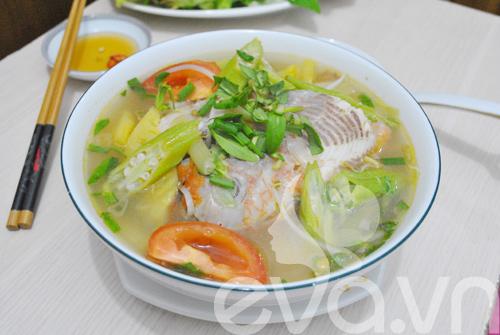 Canh cá nấu chua kiểu miền Nam - done