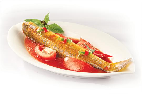 Cá đối kho cà chua