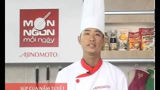 Cách nấu món súp cua biển Cà Mau nấm tuyết